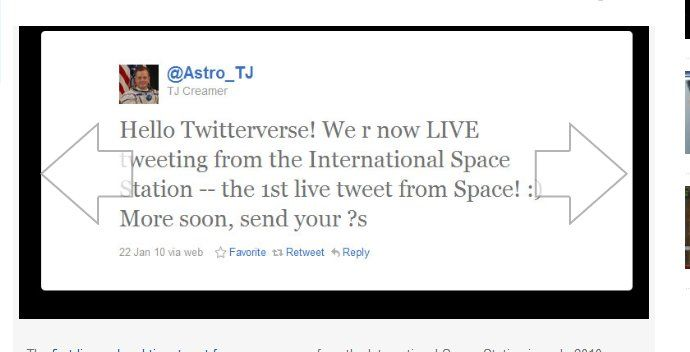 Tweeting from Outer Space