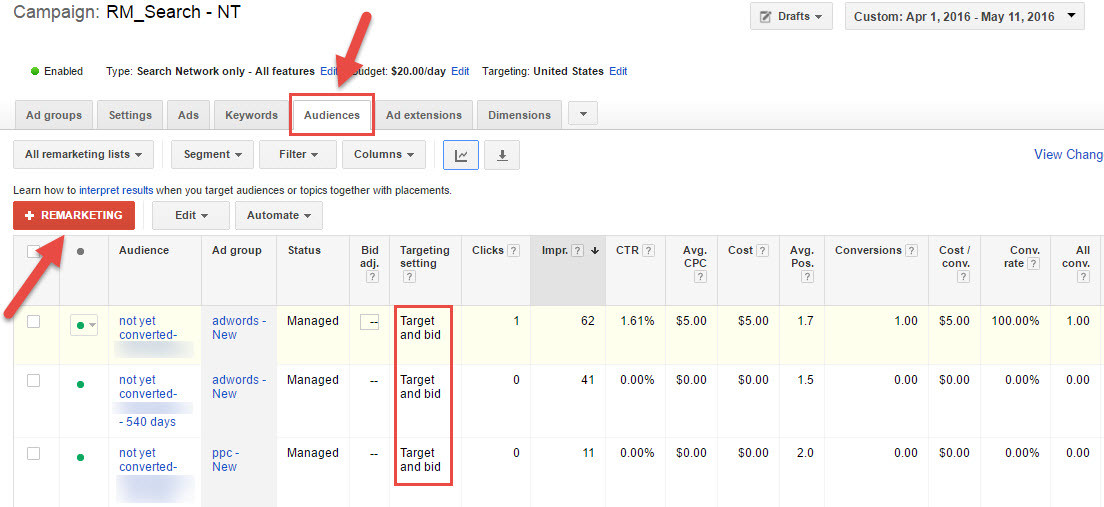 screenshot search remarketing