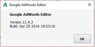 AdWords Editor 11.4.3
