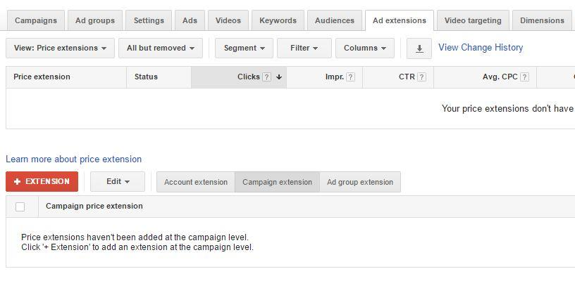 Price extensions for mobile ads: AdWords new feature