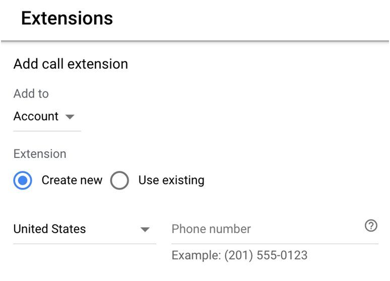 Add call extension